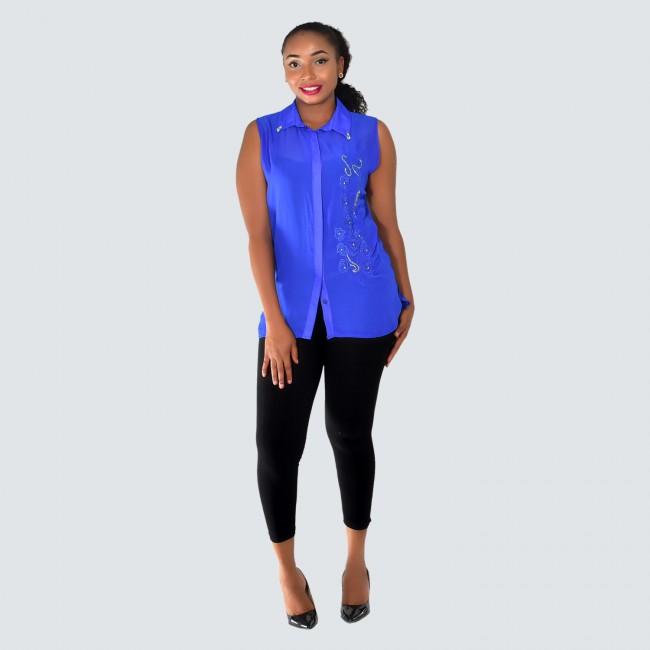 Two piece chiffon blouse