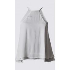 Ribbed bias cut sleeveless top