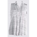 Sleeveless printed shirt top