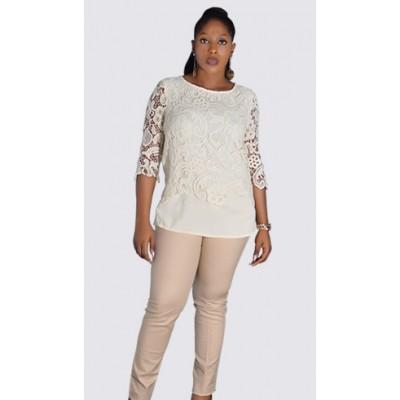 Cotton rich slim leg 7/8th trousers