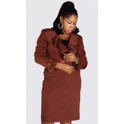Frills Jacket skirt suit