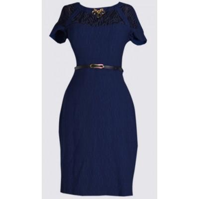 Lacey design short sleeve dress