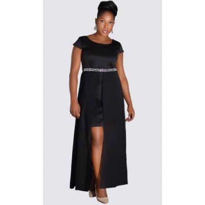 Embellished Flyaway dress