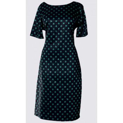 Polka dot short sleeve dress