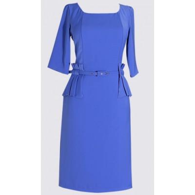 Peplum sides short sleeve dress