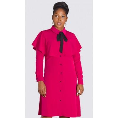 Capelet shirt dress