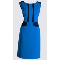 Colour block crepe sheath dress