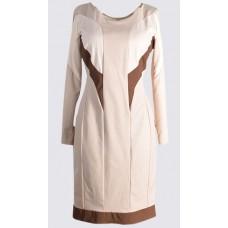 Long sleeve colour block sheath dress