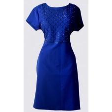 Short sleeve bead detail dress