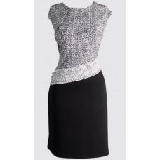 Cap sleeve side button sheath dress