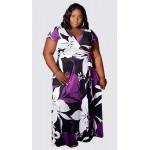 Floral short sleeve maxi dress with belt