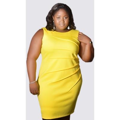Twisted body fit sleeveless dress