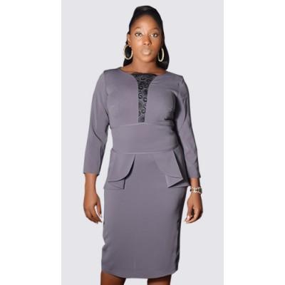 3/4 sleeve peplum dress