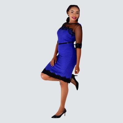 Embellished pencil dress