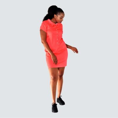 Short sleeve mini shift dress